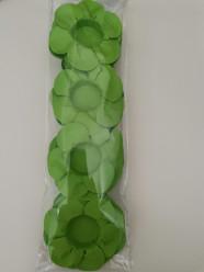 24 Forminhas Papel Flores Verde Alface