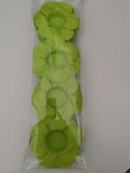 24 Forminhas Papel Flores Verde Lima