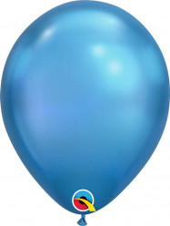25 Balões Azul Chrome 11''