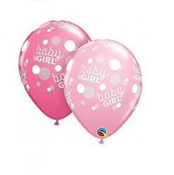 """25 Balões Latex Baby Shower Baby Girl 11"""""""