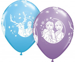 25 Balões Latex Frozen 2 Sortidos 11''