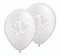 25 Balões Latex Pérola Corações 11