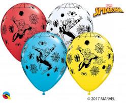 25 Balões Latex Spiderman Sortidos 11