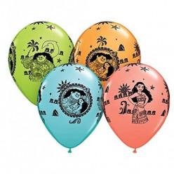 25 Balões Látex Vaiana 11''