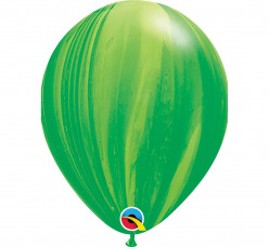 25 Balões Latex Verdes Superagate 11