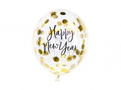 3 Balões Happy New Year Confettis