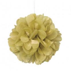 3 Mini Bolas Pom Pom Decorativas Dourado