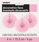 3 Mini Flor de Papel Decorativa 6 Rosa bebé