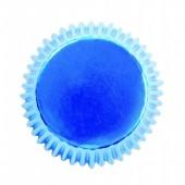 30 Formas de papel Cup Cake Azul Metalizado - PME