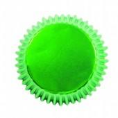 30 Formas de papel Cup Cake Verde Metalizado PME