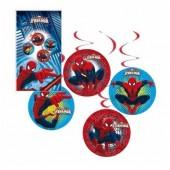 4 Espirais Decorativas Marvel Ultimate Spiderman
