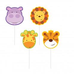 4 Mini fig velas Animais da Selva
