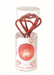 4 Mini Sparklers Corações