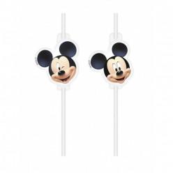 4 Palhinhas Papel Mickey