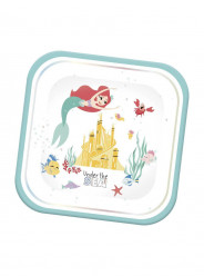 4 Pratos Ariel Under the Sea 24cm