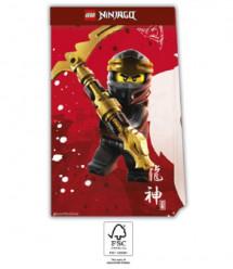4 Sacos Papel Lego Ninjago