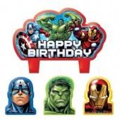 4 Velas aniversário Vingadores