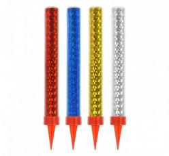 4 Velas Multicores Foguetes Sparklers 12 cm