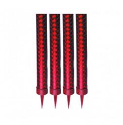 4 Velas Vermelhas Foguete 12 cm