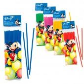 40 Palhinhas flexiveis Mickey sortido