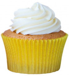 45 Cápsulas Cupcake Amarelas