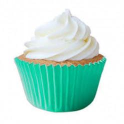 45 Cápsulas Cupcake Azul Turquesa