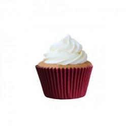 45 Cápsulas Cupcake Vermelho Marsala