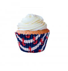 45 Forminhas Cupcake Nauticos