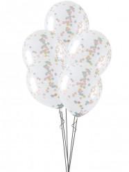 5 Balões Confettis Estrelas Baby Shower