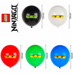 5 Balões Latex Lego Ninjago