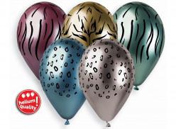 5 Balões Latex Shiny Padrões Animais