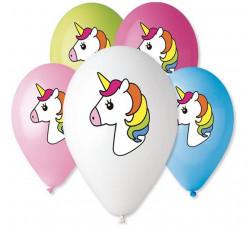 5 Balões Latex Unicórnio