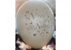 5 Balões Metalizados Viva os Noivos