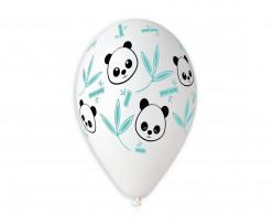 """5 Balões Panda Bambu 13"""""""