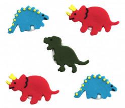 5 Mini Toppers Açúcar Dinossauros 3.5cm