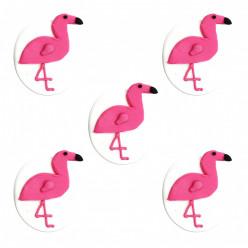5 Mini Toppers Açúcar Flamingo 3.5m