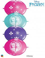 """50 Balões Frozen QLink 12"""""""