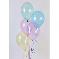 "50 Balões Rainbow Crystal Sortidos 13"" (33cm)"