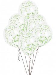 6 Balões Confettis Verdes