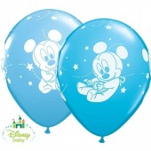 6 Balões Festa Mickey Bebé