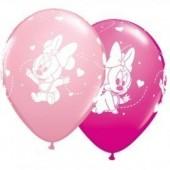 6 Balões Festa Minnie Bebé