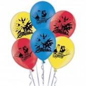 6 Balões festa Vingadores sortido