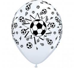 6 Balões Futebol Brancos
