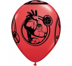 6 Balões Latex Avengers Vermelhos