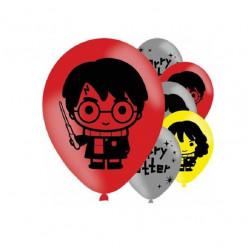 6 Balões Latex Harry Potter