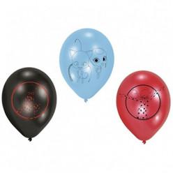 6 Balões Latex Ladybug