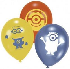6 Balões Latex Minions 9 polegadas