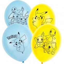 6 Balões latex Pokémon