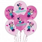 6 Balões  Minnie Mouse