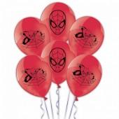 6 Balões vermelhos Spiderman